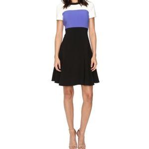 Kate Spade color block crepe dress, size 6